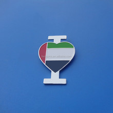 I LOVE UAE New Cut Model - Country Flag Soft Enamel National Day Union Badge, 44
