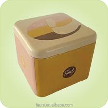 Size:90X90X73mm square watch box/tin box for watch packing/jewlery box