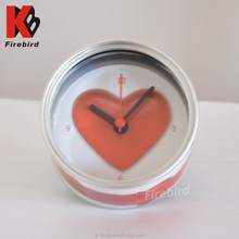 wholesale novelty electric gifts wedding favor digital can shape wall clock with stand and magnet