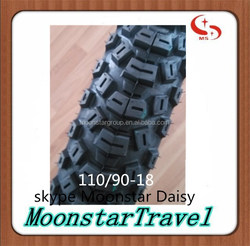 motorcycle tubeless tyre 110/90-18 chinese new motorcycle sale