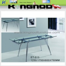 New Modern Adjusted Glass Dining table/extendable dining table