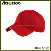 Pantone color dyed cotton twill trucker cap/cheap promotional sandwich brim cap