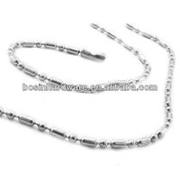 Fashion High Quality Metal Stainless Steel Sausage Ball Chain