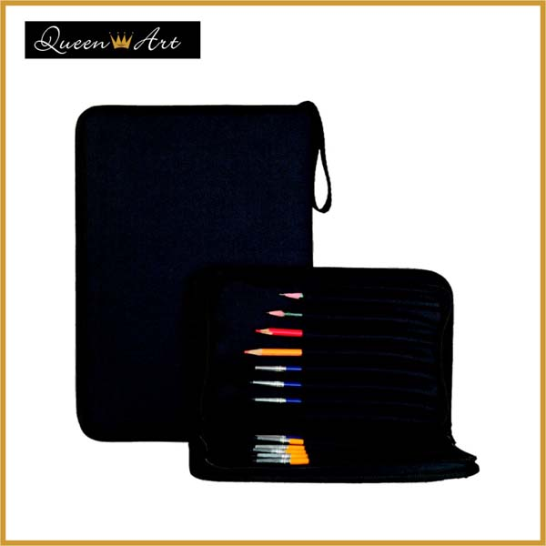 Black Nylon Brush Holder (Empty) With Zipper