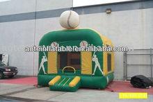 Baseball theme inflatable jump bed