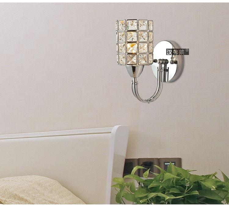 новые brife современной моды привело k9 кристалл e14 лампа стены лампы прикроватные Ночники дома Крытый лестницы украшения светильник освещение спальни