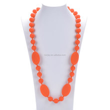 Fresh Silicone Colorful Party Dress Necklace For Baby Teething Mum Jewelry