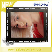 8 inch industrial Metal lcd Open Frame Monitor with touchscreen