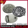 Custom Western Country Silver Vintage Flower Rose Women Belt Buckle