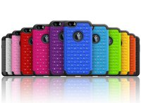 3 in 1 combo case for apple iphone 6s plus jewelry cover / hard soft rugged cover for iphone 6s plus shockproof case