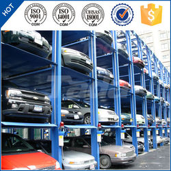 pjs 4 layer commercial used car vertical parking lift system solution