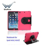 Universal Full-Body Ptotector Tablet Case for iPad Mini1/2/3 on Hot Sale 360 degree Rotation Stand