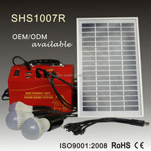 Hot sale portable home lighting solar energy products 10W 20W 30W with solar panel and DC radio