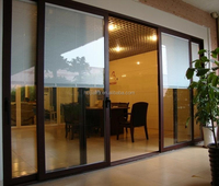 2015 HJX GZ Factory cheap glass sliding doors louvered sliding closet doors