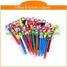 High quality cartoon polymer clay ball pens cute fat plastic ball pen