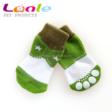 Lanle pet rubber socks for dogs and cats,hot sale knitting dog socks for small MOQ,high quality wholesale pet products