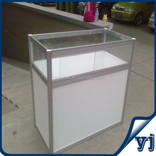 Clear Wall Mount Corner Aluminum Lighted Glass Display Case,Glass Display Cabinets Commercial