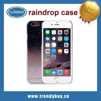 Charming Raindrop style pc back cover clear case for iphone 6