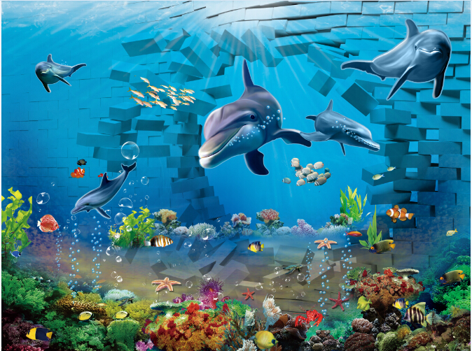 Wholesale Yst 118 Lifelike Ocean Scenery Deep Sea Fish 3d
