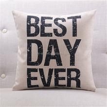 2015 fashion design love linen cushion
