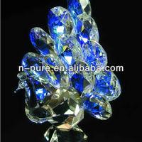 Muti - Color Beautiful Crystal Peacock Figurine