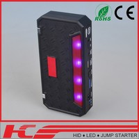 2015 NEW High Quality portable power pack auto jump starter With hand crank dynamo charger with usb output