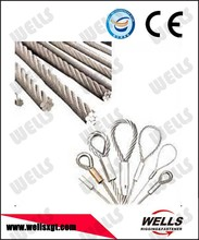 china manufacturer 7x19 316 stainless steel wire rope sling