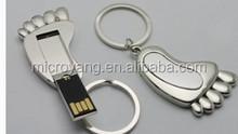 2015 new design mini metal feet usb flash drive gift