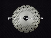 """4.5"""" V slot Electroplated diamond blade with dots"""