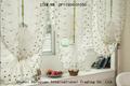 Elegante blanco cortina pequeña flor