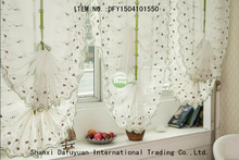 elegant white small flower curtain