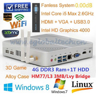 Wholesales 4GB RAM 1TB HDD Best 3D Gaming PC for home WIFI Home PC HTPC I5 Computer HD4000 Graphics USB3.0 Ports