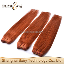 thick ends double drawn indian remy hair orange hair extension from shanghai