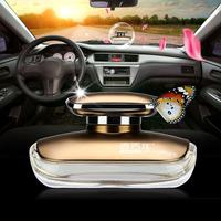 car air freshener with France fragrance liquid on dashboard