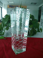 clear glass vases square