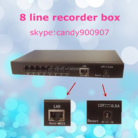 RJ45 port recorder box 8G SD card phone recorder 8 port stand-alone phone voice recorder