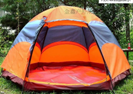 double layer fiberglass pole camper camping tent with sleeping bag