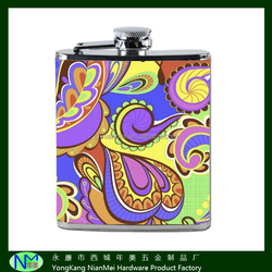 hot sale India high quanlity hip flask with color logos