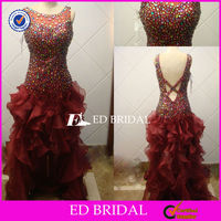 ch006 2013 new style real sample short front long back beaded prom dresses