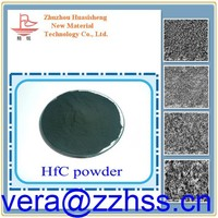 High surface activity Hafnium carbide powder used as additives in tungsten carbide HfC using in coating, hafnium carbide fiber.