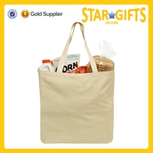 2015 Alibaba China wholesale Natural 100% Cotton canvas tote for grocery shopping