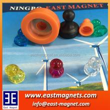 several color rubber coated plastic pot magnet/several hook color rubber coated plastic pot magnet