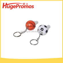 Promotional Basketball Whistle Keychain Football Whistle Keychain