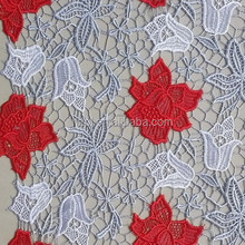 2015 Fashion multicolor Africa guipure lace fabric /cupion lace for dress