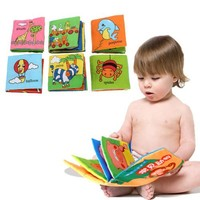 soft cloth baby fabric learning book