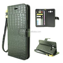 For samsung A8 case Luxury PU Crocodile pattern Wallet Stand Flip Fashion Cell phone case A8 Protective sleeve