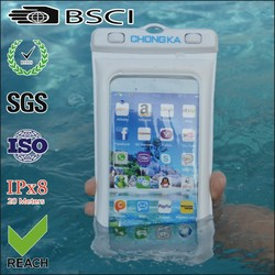 cellphone waterproof pvc bag/mobile pvc waterproof cell case/waterproof pvc pouch for cell phone
