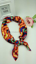FASHION DESIGN Print Silk Feel Square Neckerchief IN STOCK