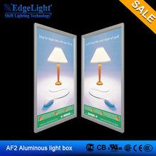 Edgelight AF2 aluminum frame/led poster frame/snap frame/photo frame/picture frame advertising slim light box