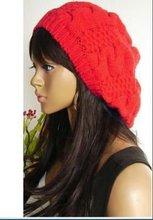 gorro vermelho tam boina crochet apple crânio moda envolver a cabeça chapéu